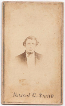 1860's Russell Clark Smith Civil War CDV Photo, Co. F 123rd Argyle NY