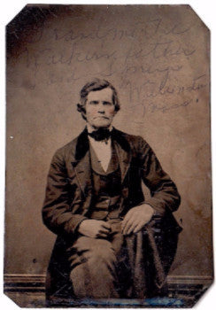 1860's Mason Walker ID'd Tintype Photo, Sand Springs, Williamstown, MA
