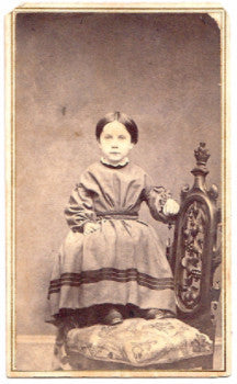 1860s Lucy Louisa Reynolds CDV Photo, Strafford, Orange County Vermont