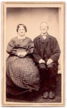 1867 Abner Damon & Myrenda Bates Damon CDV Photo, Chesterfield, Mass