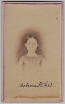1860's Rebecca Stokes CDV Photo, Philadelphia Quakers, John S. Stokes