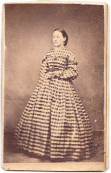 1860 Emma Tressler CDV Photo, Linden Hall, Centre County, Pennsylvania