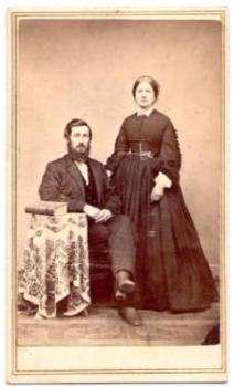 1860's Stewart Covert Snyder & Mary Grant Snyder CDV Photo, Hector NY
