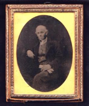 1850 John Wadham Floyer Ambrotype Photo, Martin, Horncastle Lincoln UK