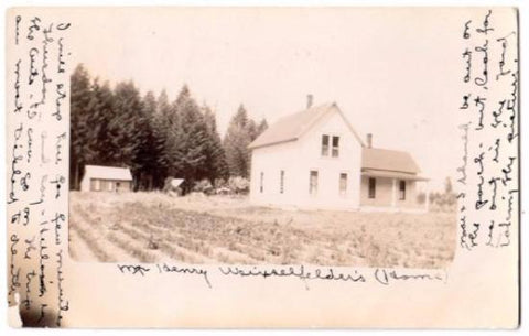 1912 Henry Weixselfelder Home RPPC Photo, Eugene, Lane County, Oregon