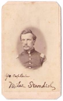 1860's Miles Standish CDV Photo, Co. C, 12th Civil War, Columbus, Ohio