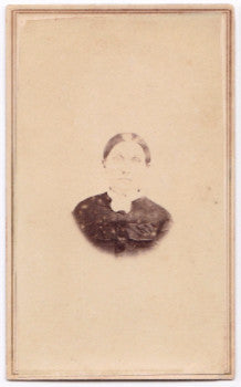 1860's Sarah Harthan Glazier Booth CDV Photo, MA to NY (Jonas Glazier)