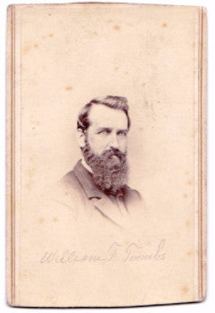 1870 William F. Toombs CDV Photo (Helen Willard Toombs) NYC & Ripon WI