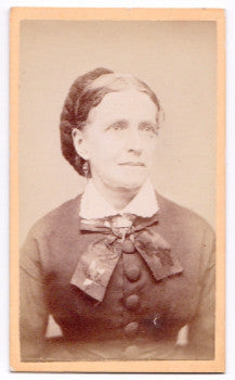 1870's Nancy Butman CDV Photo Manchester NH (wife: Dr Marshall Meriam)