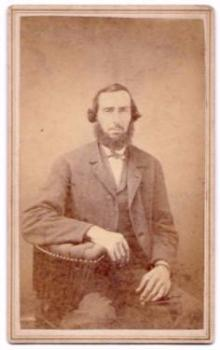 1860's Daniel Enterline CDV Photo, Blacksmith, Lancaster County PA