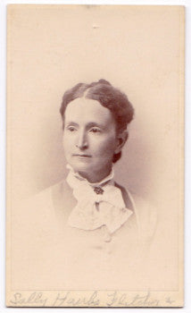1870's Sally Hawks Fletcher CDV Photo, Cazenovia NY-Mankato, Wisconsin