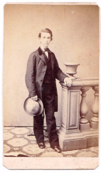 "1860's William ""Willie"" Watson CDV Photo, Brooklyn, Kings County, NYC"