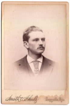 1890 Charles Miles Schooley Photo, Zanesville OH, Dr. Lindley Schooley