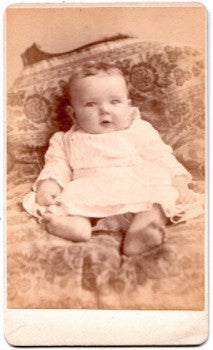 1884 Chester Hamlin Rugeley ID'd CDV Baby Photo, Harris County, Texas