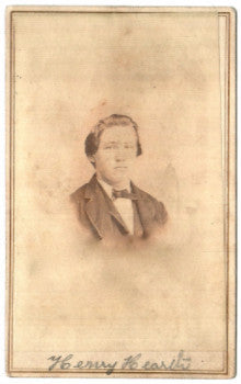 1864 Henry Hierth Civil War CDV Photo, 5th & 90th Indiana-Henry Hearth