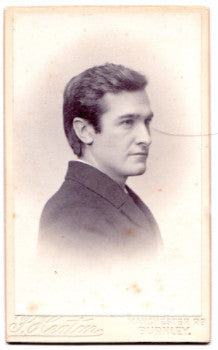 1901 Reverend Hugh Cunningham Wallace CDV Photo, Burnley Lancashire UK