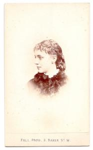 1873 Blanche Mary Twysden Molesworth Myers CDV Photo, London, England