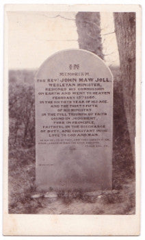 1866 Grave of Rev. John Maw Joll CDV Photo, Wainfleet, Lincolnshire UK