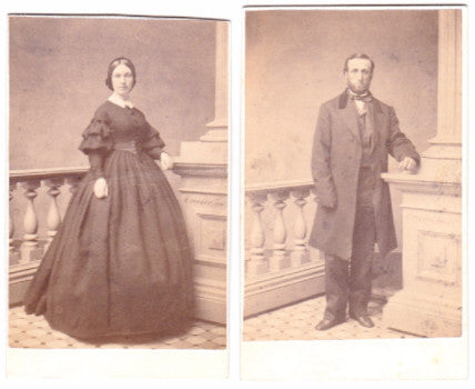 1860's 2 Chauncey Porter Richardson CDV Photos, 2nd Nebraska Civil War