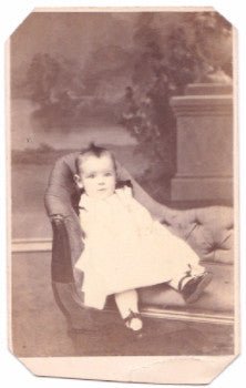 1869 Norman Wamsher CDV Victorian Baby Photo, Pottstown, Montgomery PA