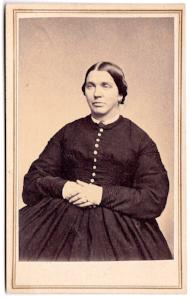 1860's Bridget Gallup Denison Noyes CDV Photo, Stonington, Connecticut