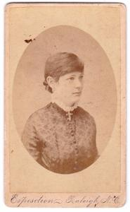 1884 Elizabeth Amanda Dockery Chavasse CDV Photo, North Carolina