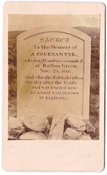 1860's Covenanter's Grave CDV Photo, Black Law Pentland Hills Scotland
