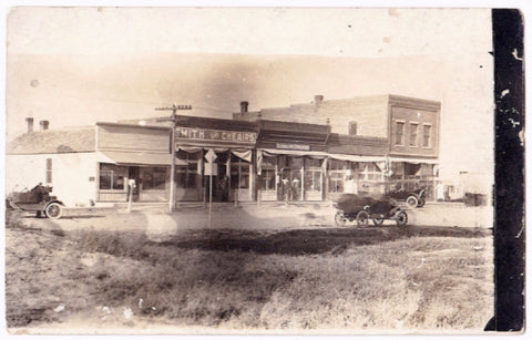 1920's Smith & Cheairs Store RPPC Photo, Iliff, Logan County, Colorado