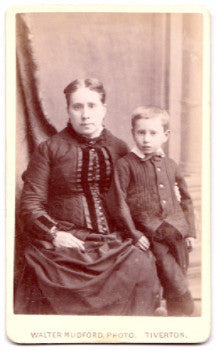 1860's Henry Charles Lewin & Mother CDV Photo, Exeter, Devon, England