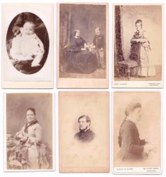 12 Victorian CDV Photos of the Harry Jocelyn Jeffries Family, London