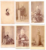 1870's Harry Jocelyn Jeffries: 12 Victorian CDV Photos, London England