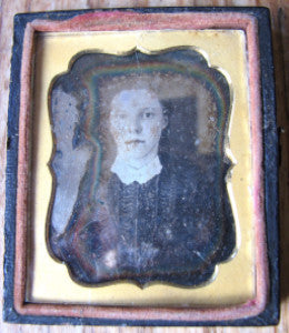 1848 Clarinda Bradley signed Daguerreotype Photo, wife of Alonzo Stead