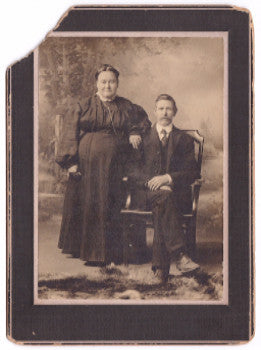 1890's Alonzo Turner Wood & Phoebe Nolan Photo, Ohio, Iowa & Missouri