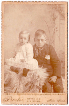 1890's Leroy & Harry Burgess Cabinet Photo, Milo, Warren County, Iowa