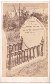 1869 Grave CDV Photo of Sarah Aphra, dau of Lt. Ussher William Alcock