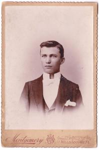 1890's Francis Frank Shissler Cabinet Photo, Willamsport, Lycoming PA