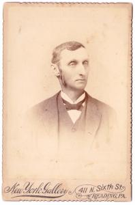 1880's Willoughby Rentschler Cabinet Photo, Reading, Berks County PA