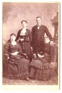 1880's John Orr Houston & Sisters Cabinet Card Photo, Manchester NH