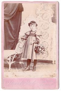 1890's Eva Baum Rubright Cabinet Photo, Reading, Berks County, Penn