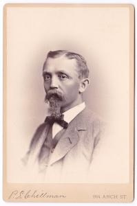 1882 George Emanuel Oberer signed Cabinet Card Photo, Philadelphia