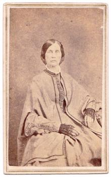 1865 Lydia Emory Wyckoff Luther Civil War era CDV Photo, Ashland, Ohio