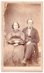 1865 Allen Watkins & Hannah Hovey CDV Photo, Belvidere Boone County IL