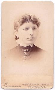 1885 Mabel A. Hakes CDV Photo, Groton, Tompkins County, New York