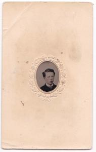1870's Edward Aaronson Ivins Jr Tintype Photo, Philadelphia & Bucks PA