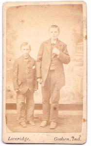 1880's Dr. Albert Christian Yoder & brother James CDV Photo, Goshen IN
