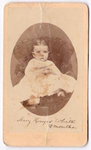 1870 Mary Hayes White Bartram CDV Photo, Nebraska to West Chester PA