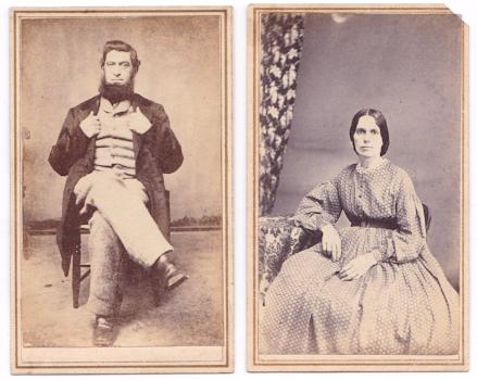 1860's Albert Ream 131st OH, wife Barbara Swar Photos, Miamisburg, OH