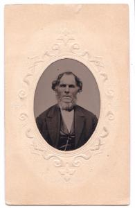 1870's Josiah Staples Tintype Photo, Auburn Androscoggin County Maine