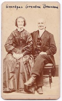 1860s Benjamin Broomhead & Sarah Hoyland Broomhead CDV Photo, UK & USA