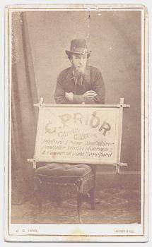 1860's Occupational CDV Photo C. Prior, Sign Painter Hereford, England
